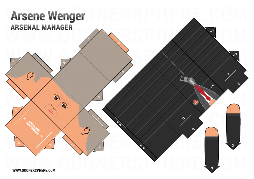 Build your own Arsène Wenger © Goonersphere