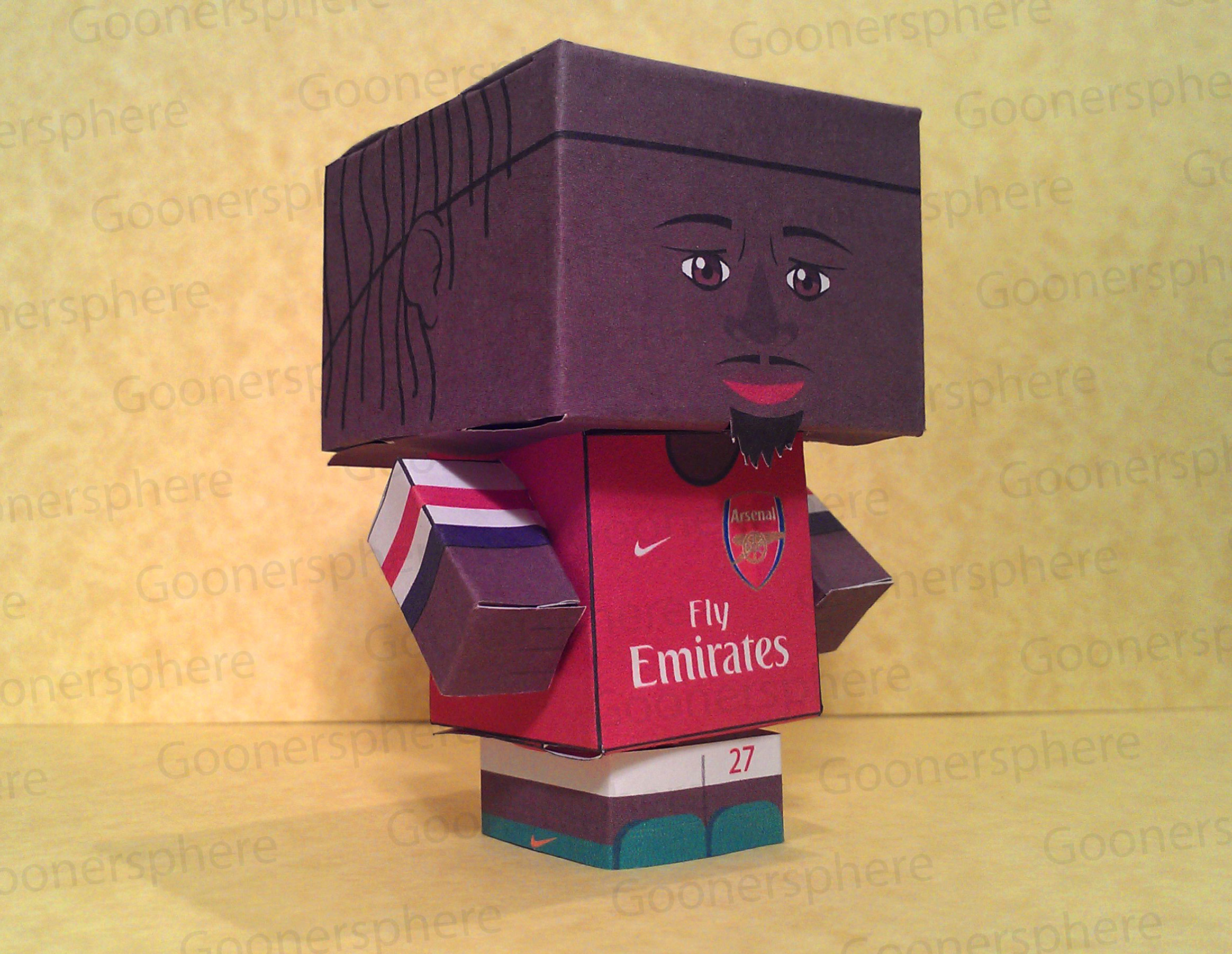 Available For Download: Arsenal fans can now build their own Gervinho